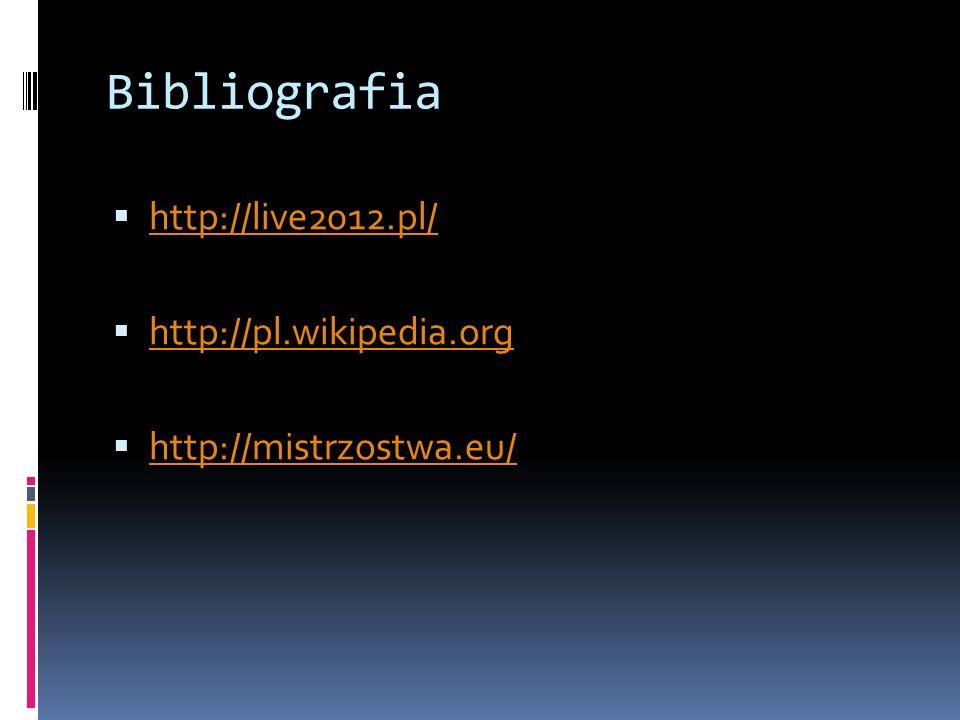 Bibliografia http://live2012.pl/ http://pl.wikipedia.org