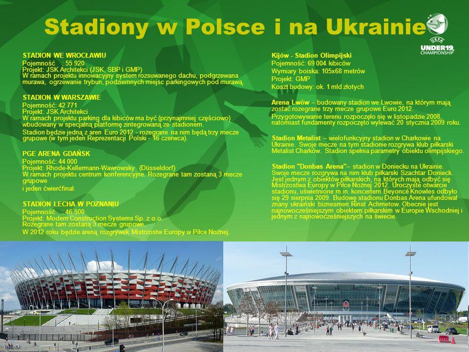 Stadiony w Polsce i na Ukrainie