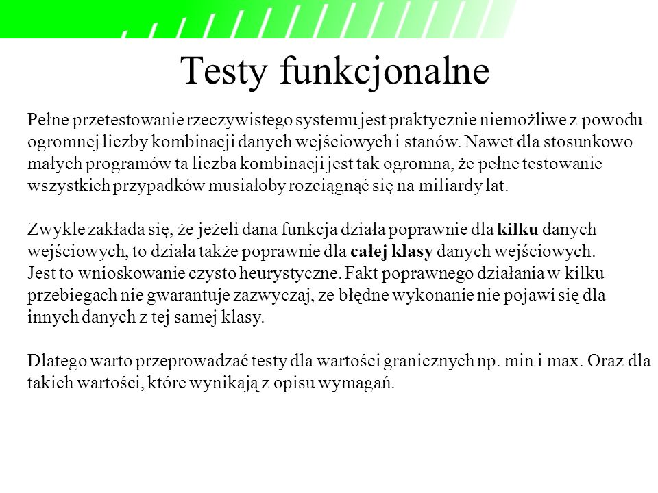 Testy funkcjonalne