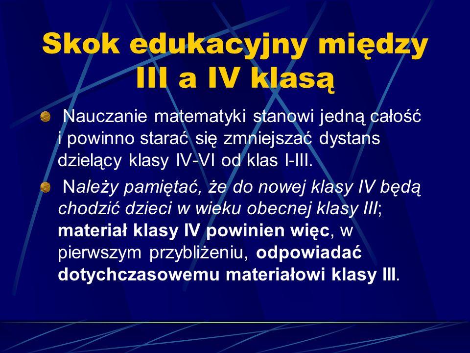 Skok edukacyjny między III a IV klasą