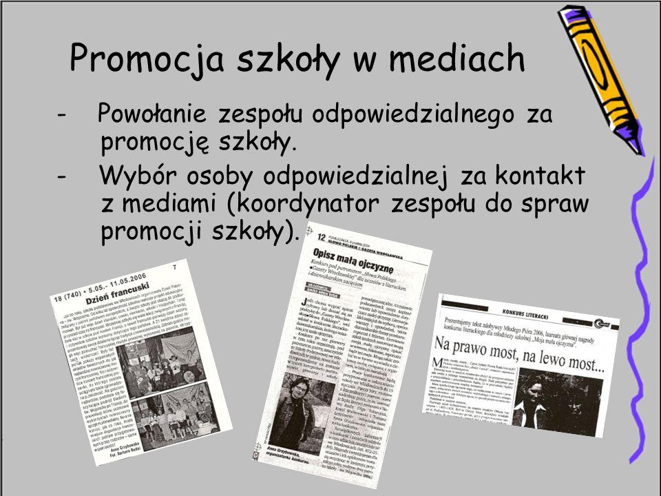 Promocja szkoły w mediach