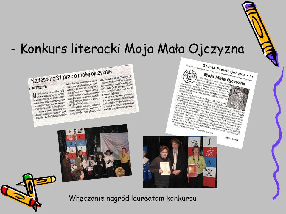 - Konkurs literacki Moja Mała Ojczyzna