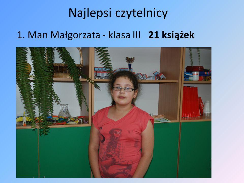1. Man Małgorzata - klasa III 21 książek