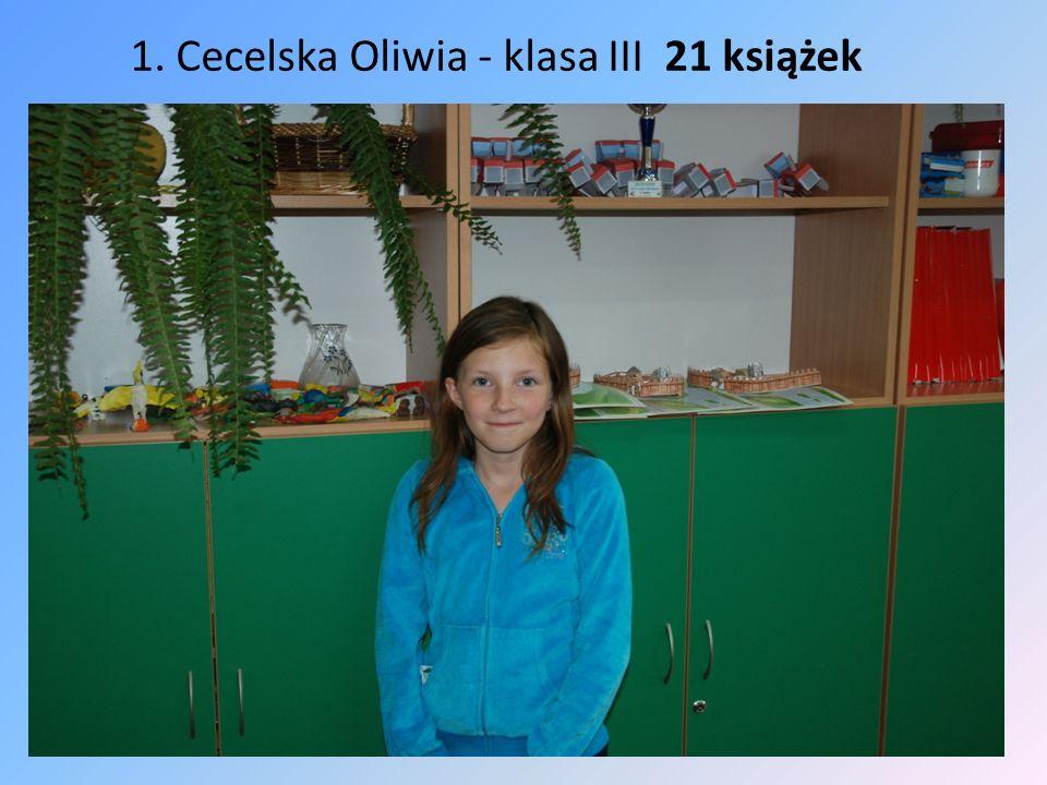 1. Cecelska Oliwia - klasa III 21 książek