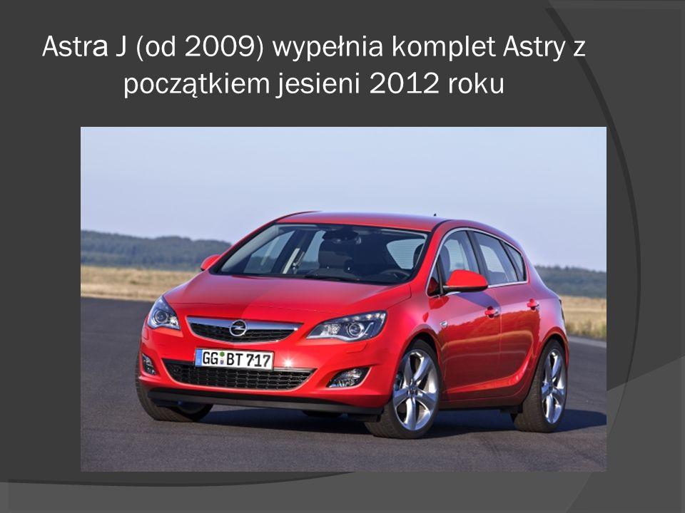 Astra J (od 2009) wypełnia komplet Astry z początkiem jesieni 2012 roku