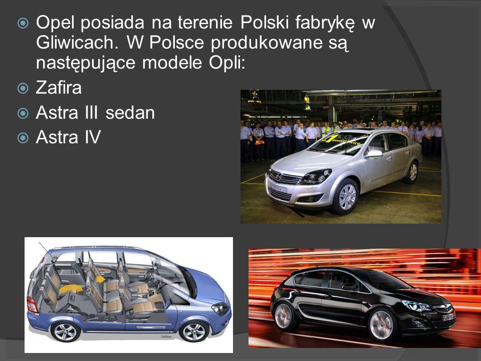 Opel posiada na terenie Polski fabrykę w Gliwicach