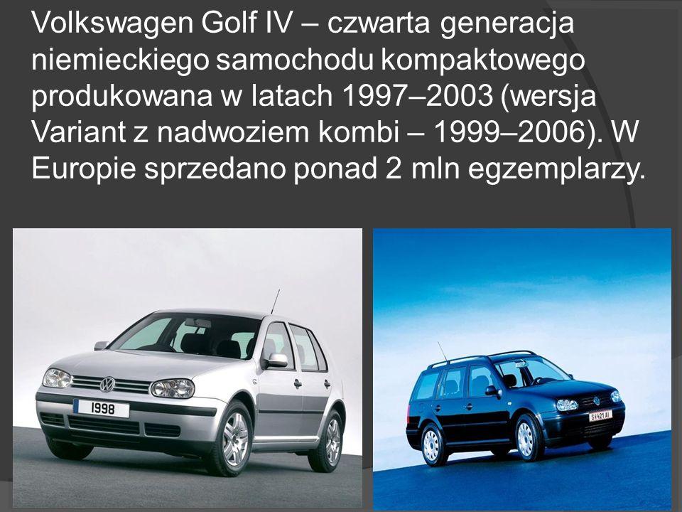 Volkswagen Golf IV – czwarta generacja niemieckiego samochodu kompaktowego produkowana w latach 1997–2003 (wersja Variant z nadwoziem kombi – 1999–2006).