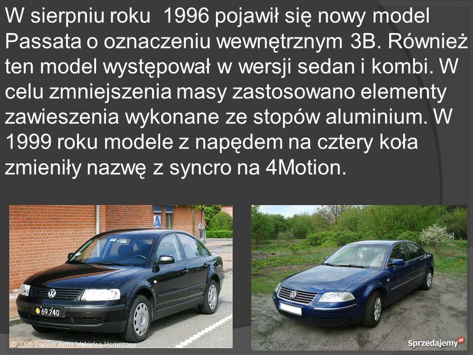 W sierpniu roku 1996 pojawił się nowy model Passata o oznaczeniu wewnętrznym 3B.