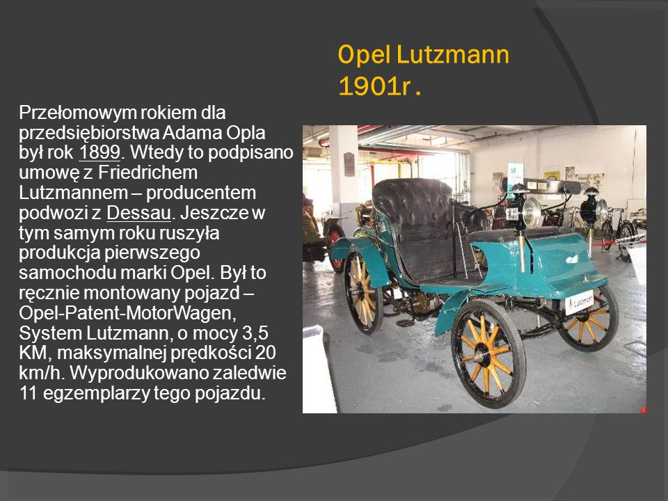 Opel Lutzmann 1901r .