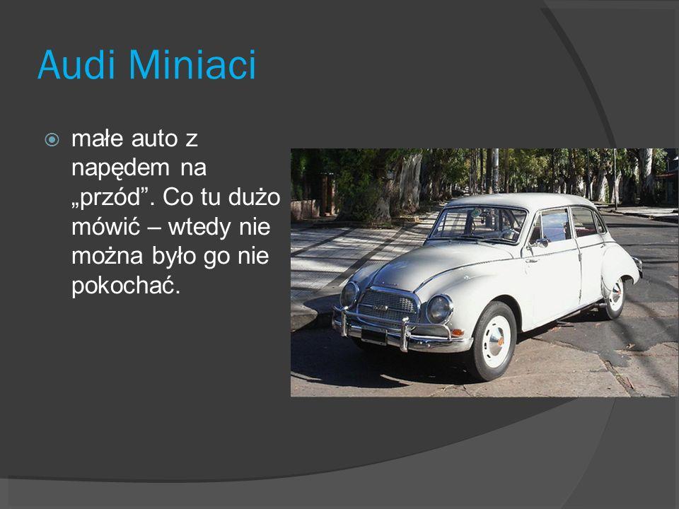 """Audi Miniacimałe auto z napędem na """"przód ."""