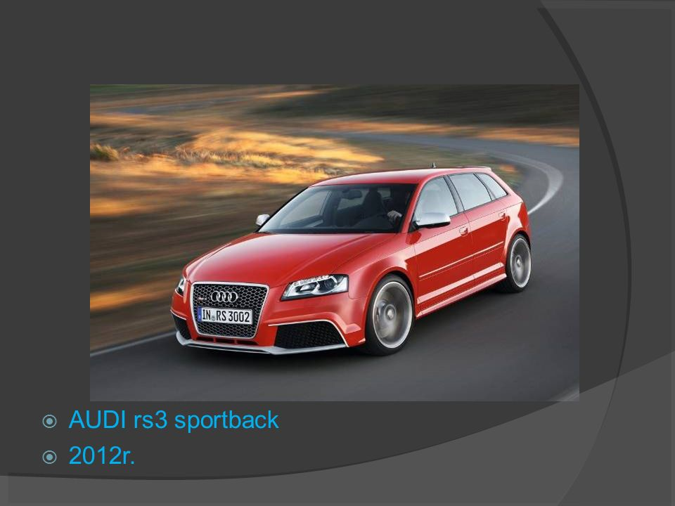 AUDI rs3 sportback 2012r.
