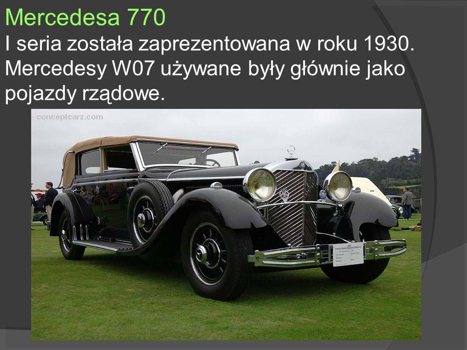 Mercedesa 770I seria została zaprezentowana w roku 1930.