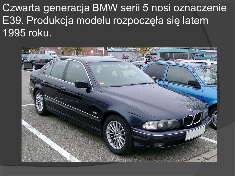 Czwarta generacja BMW serii 5 nosi oznaczenie E39