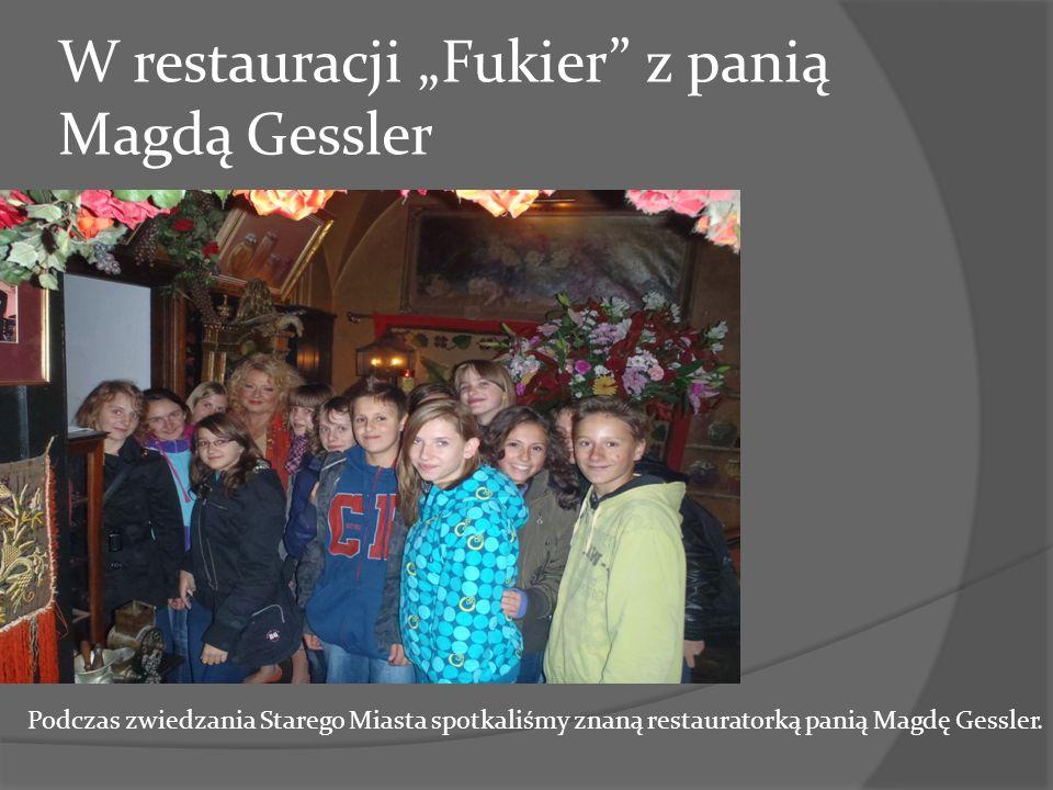 """W restauracji """"Fukier z panią Magdą Gessler"""