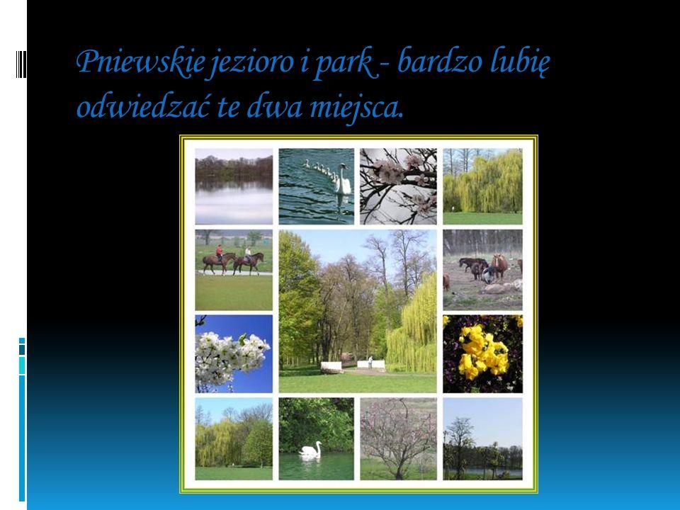 Pniewskie jezioro i park - bardzo lubię odwiedzać te dwa miejsca.