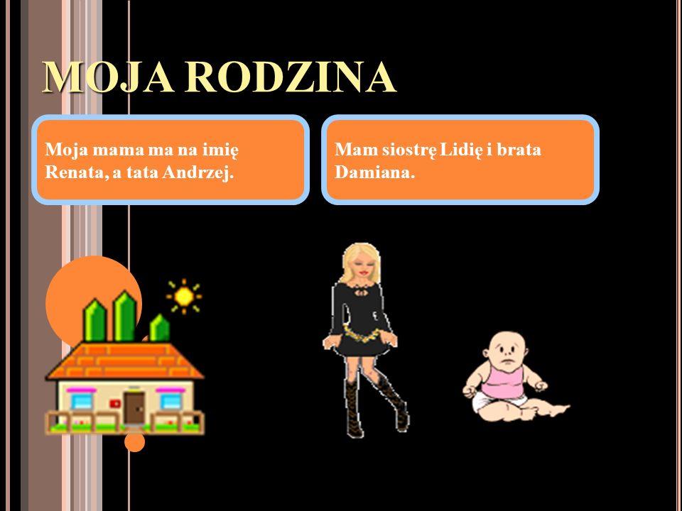MOJA RODZINA Moja mama ma na imię Renata, a tata Andrzej.