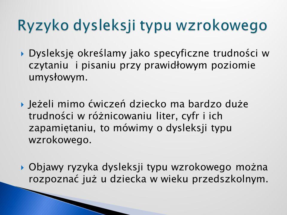 Ryzyko dysleksji typu wzrokowego
