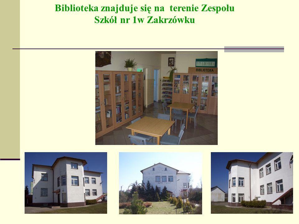 Biblioteka znajduje się na terenie Zespołu Szkół nr 1w Zakrzówku