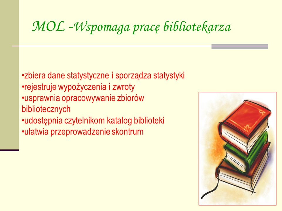 MOL -Wspomaga pracę bibliotekarza
