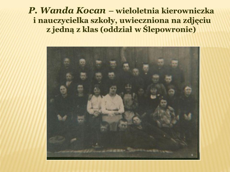 P. Wanda Kocan – wieloletnia kierowniczka