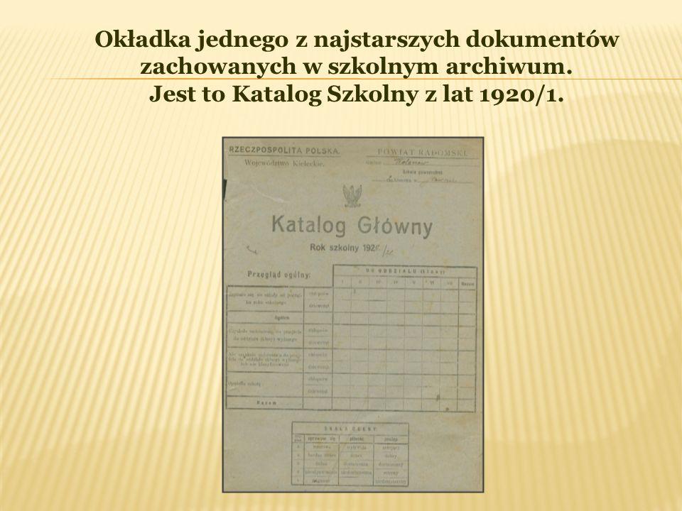 Jest to Katalog Szkolny z lat 1920/1.