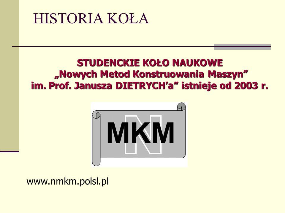 """STUDENCKIE KOŁO NAUKOWE """"Nowych Metod Konstruowania Maszyn"""