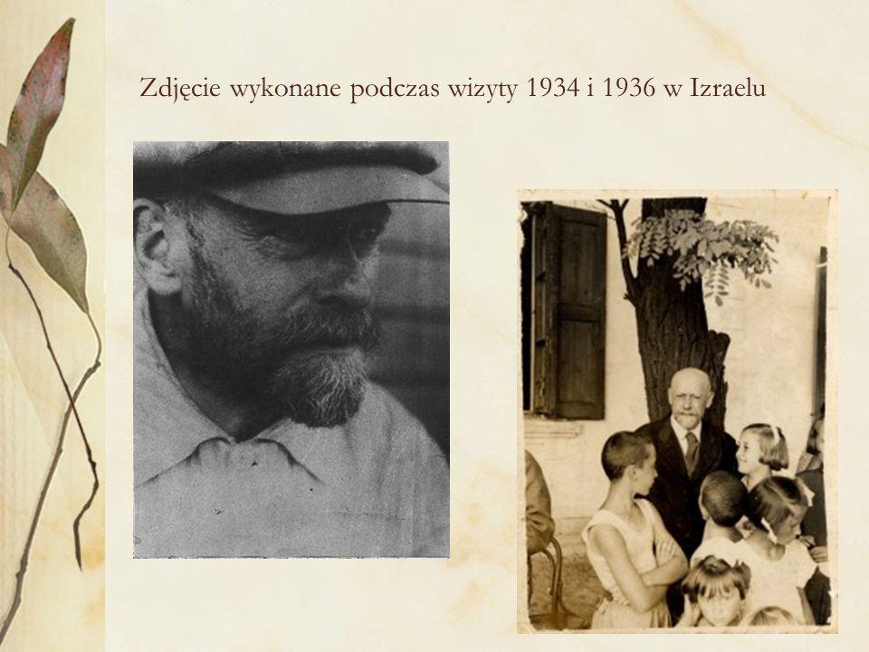 Zdjęcie wykonane podczas wizyty 1934 i 1936 w Izraelu