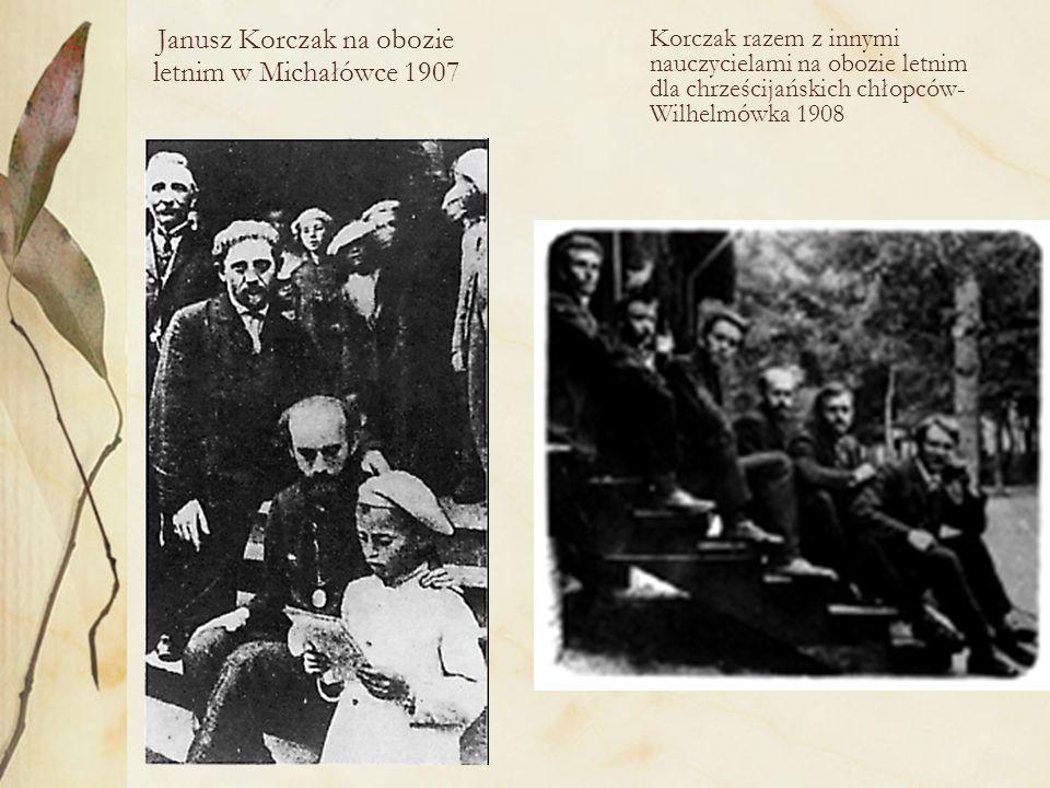 Janusz Korczak na obozie letnim w Michałówce 1907