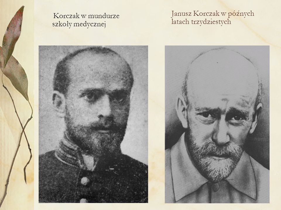 Korczak w mundurze szkoły medycznej