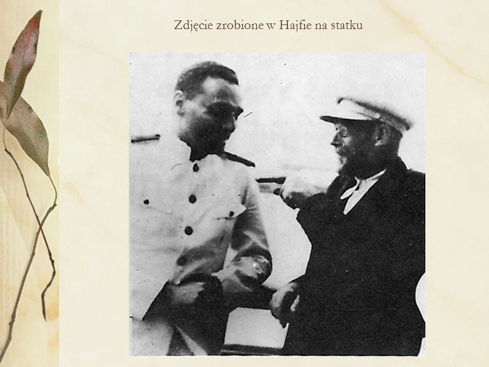 Zdjęcie zrobione w Hajfie na statku