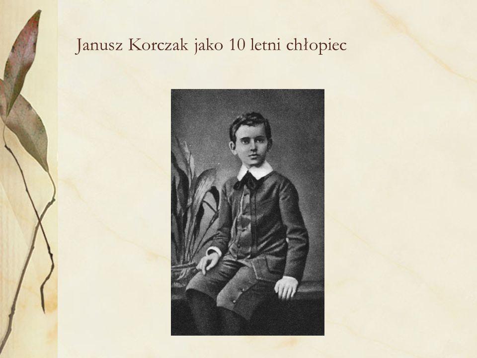 Janusz Korczak jako 10 letni chłopiec