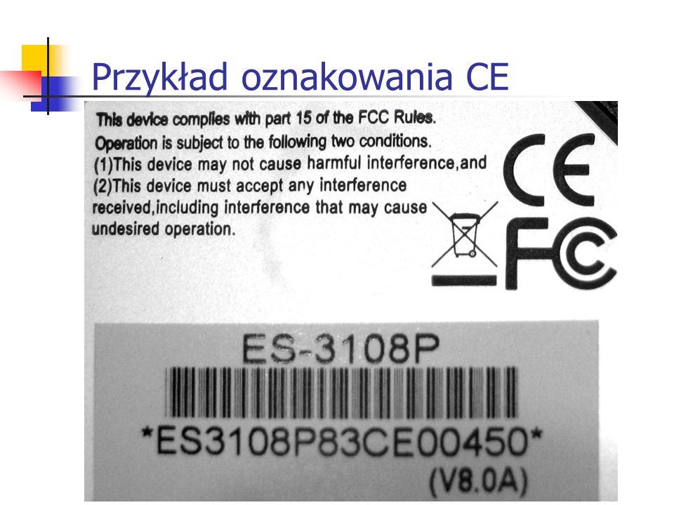 Przykład oznakowania CE