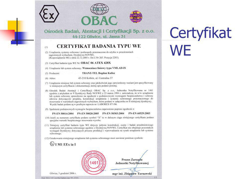 Certyfikat WE