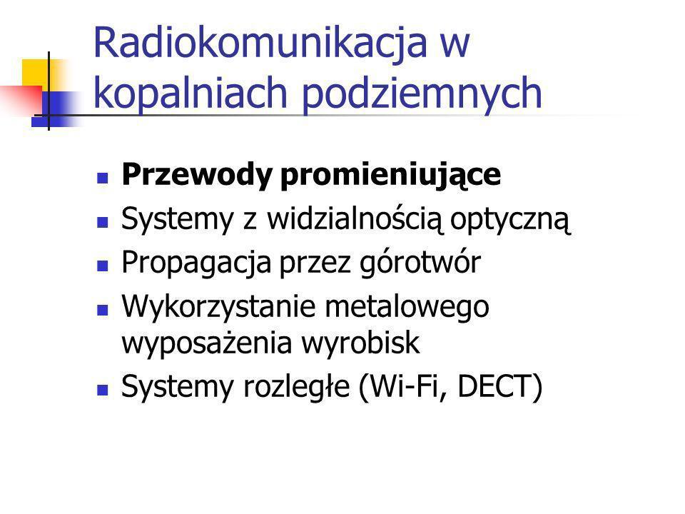 Radiokomunikacja w kopalniach podziemnych