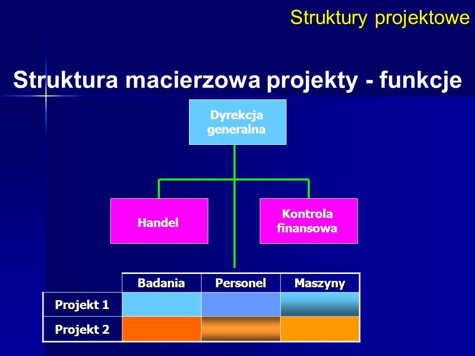 Struktura macierzowa projekty - funkcje