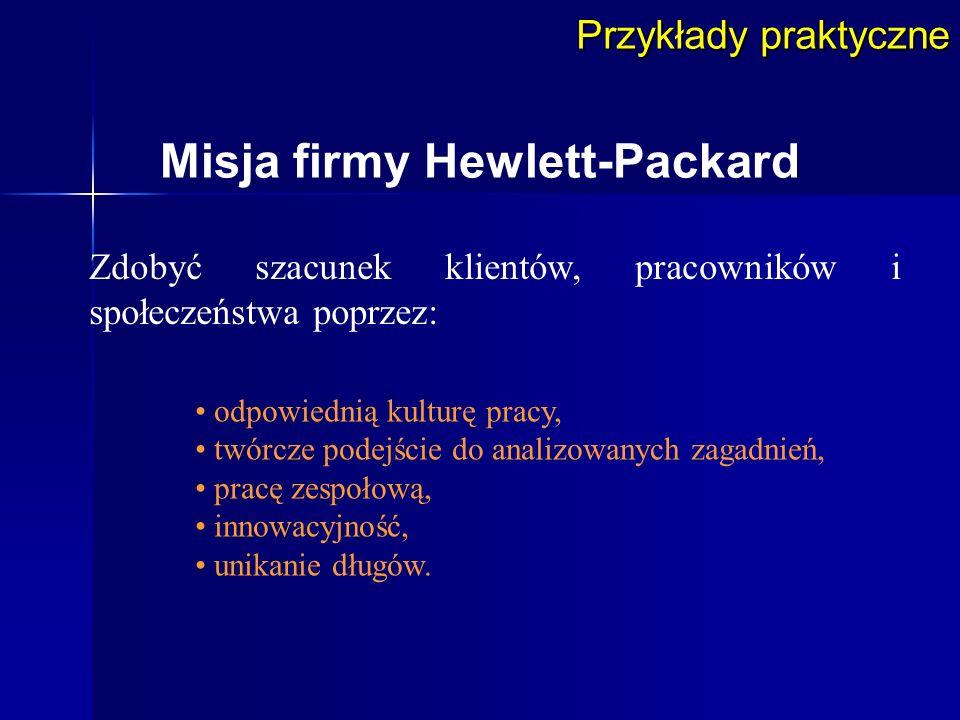 Misja firmy Hewlett-Packard