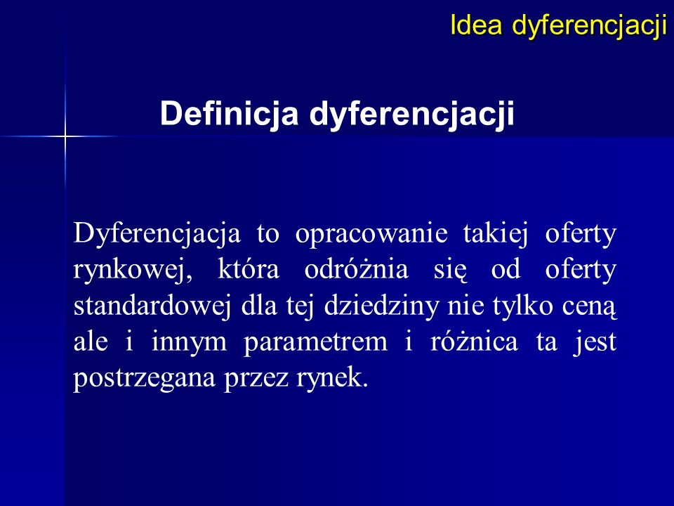 Definicja dyferencjacji