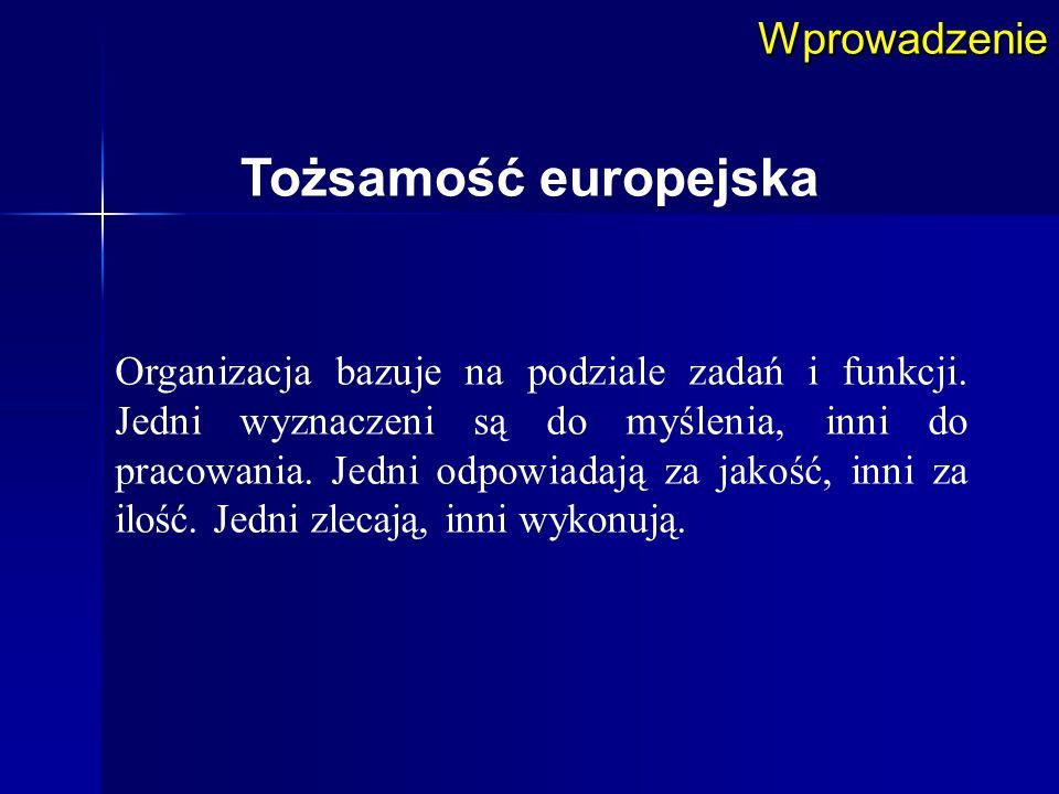 Tożsamość europejska Wprowadzenie