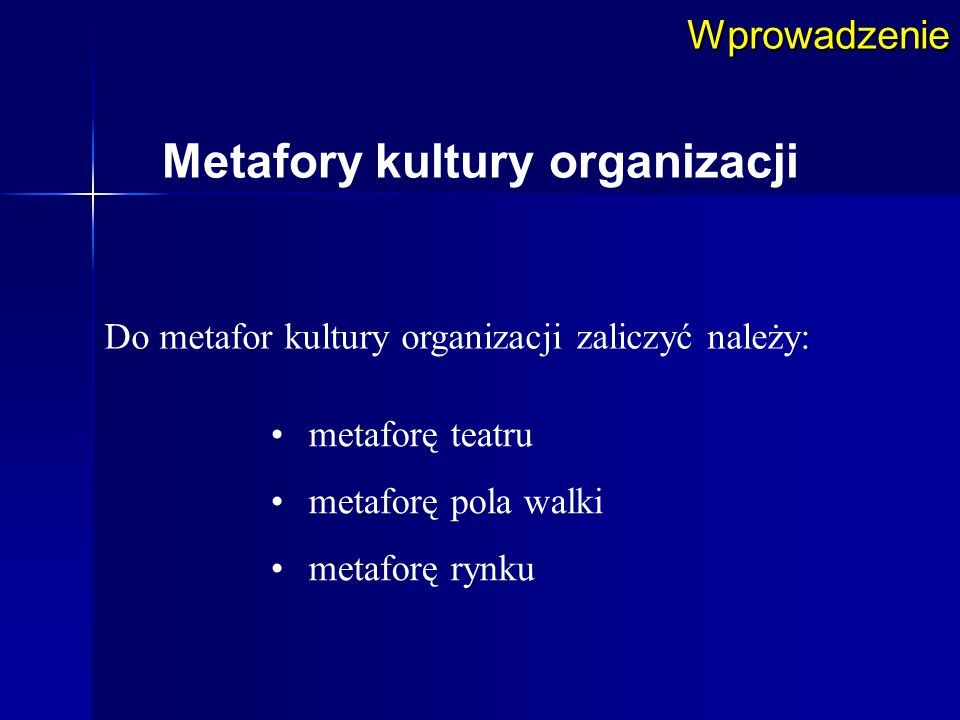 Metafory kultury organizacji
