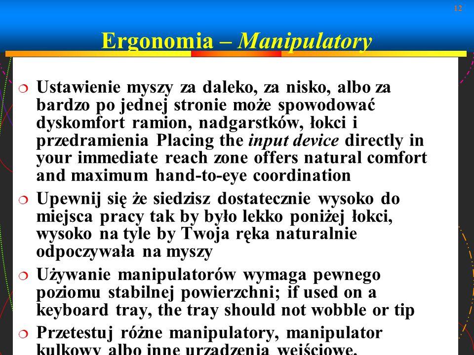 Ergonomia – Manipulatory