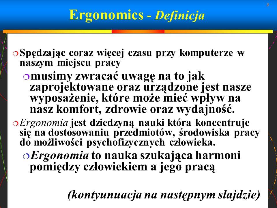 Ergonomics - Definicja