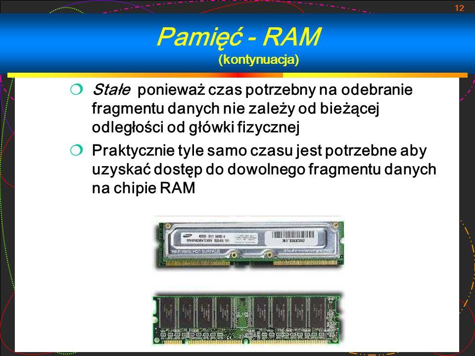 Pamięć - RAM (kontynuacja)