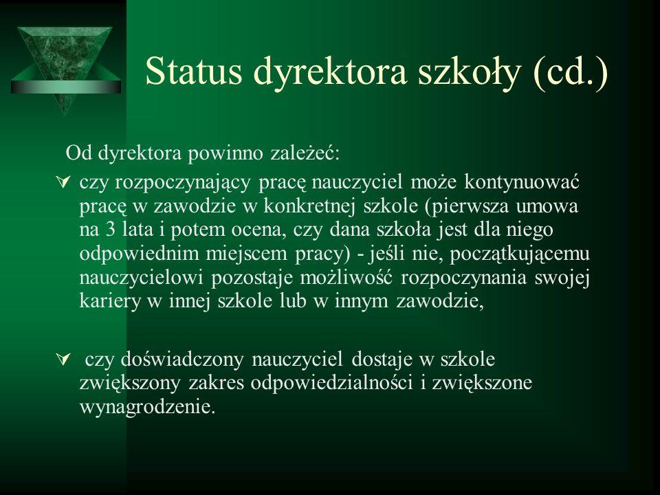 Status dyrektora szkoły (cd.)