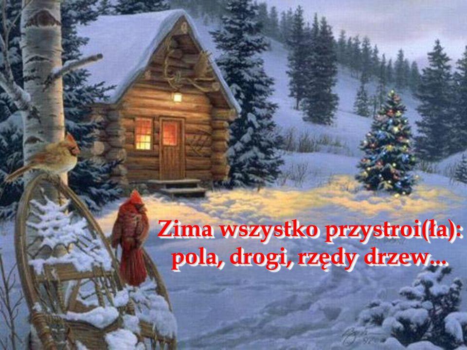 Zima wszystko przystroi(ła):