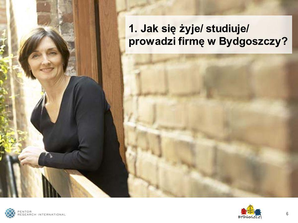 1. Jak się żyje/ studiuje/ prowadzi firmę w Bydgoszczy