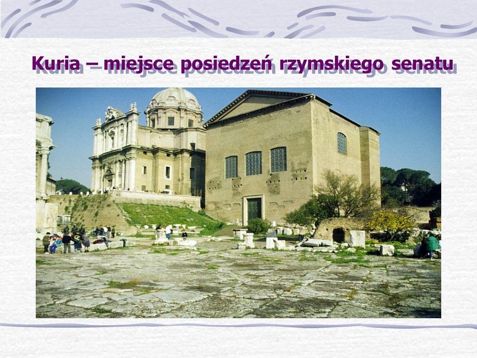 Kuria – miejsce posiedzeń rzymskiego senatu