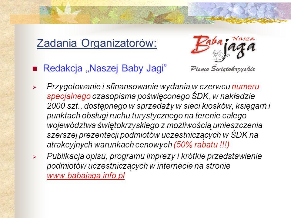 Zadania Organizatorów:
