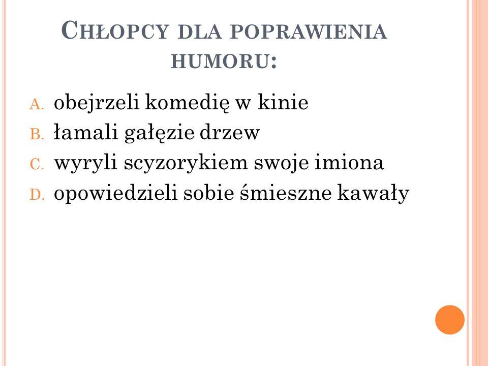 Chłopcy dla poprawienia humoru: