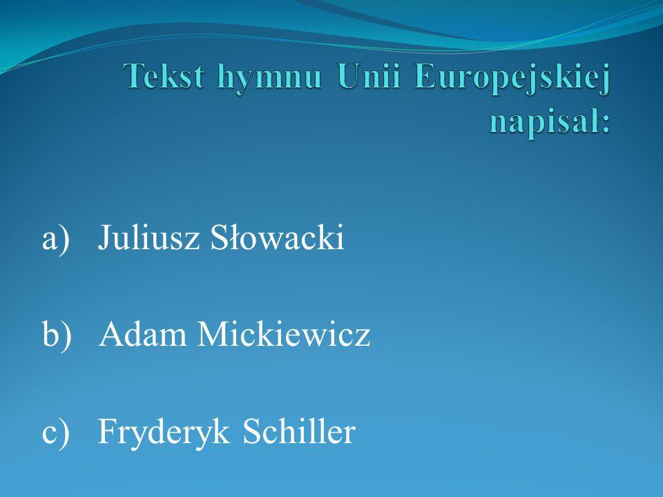 Tekst hymnu Unii Europejskiej napisał: