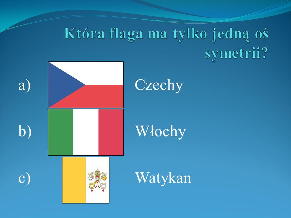Która flaga ma tylko jedną oś symetrii
